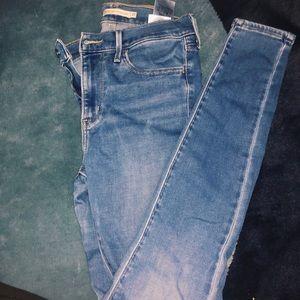 Levi high waisted skinny jeans